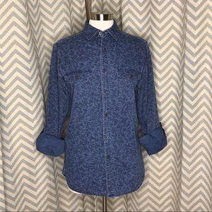 💥 Mossimo floral print denim shirt blue S